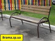 Скамейка садовая,  лавочка парковая,  кованная скамья  для сада,  дачи,  л - foto 0