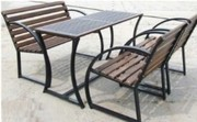 Скамейка садовая,  лавочка парковая,  кованная скамья  для сада,  дачи,  л - foto 1