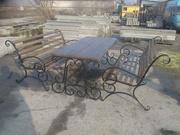 Скамейка садовая,  лавочка парковая,  кованная скамья  для сада,  дачи,  л - foto 3