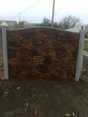 Цветные бетонные заборы, установка по Запорожью. - foto 2