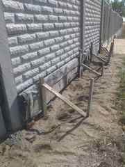 Заливка фундамента под забор. Фундамент под бетонный забор. - foto 0