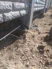 Заливка фундамента под забор. Фундамент под бетонный забор. - foto 1